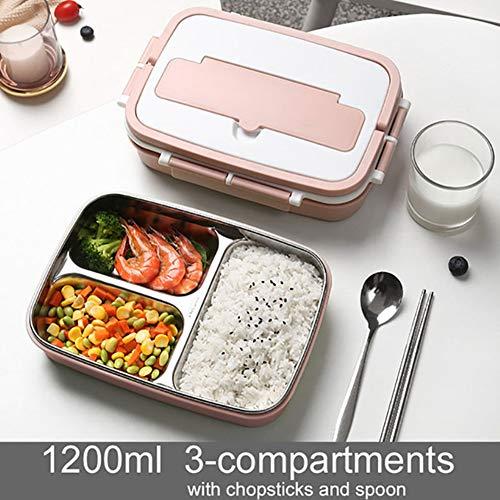 Draagbare Lunch Box 304 RVS Bento Box Met Tafelgerei Student Verzegelde, Lekvrije Grote Capaciteit Voedsel Container