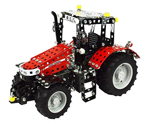 Tronico 10087 - Metallbaukasten Traktor Massey Ferguson MF 5430 mit Fernsteuerung, Junior Serie, Maßstab 1:24, 531-teilig, rot*