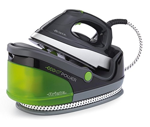 Ariete Stiromatic Eco Refillable 6422 Centro de planchado, 2000 W, 2400 W, Acero Inoxidable, Negro/Verde