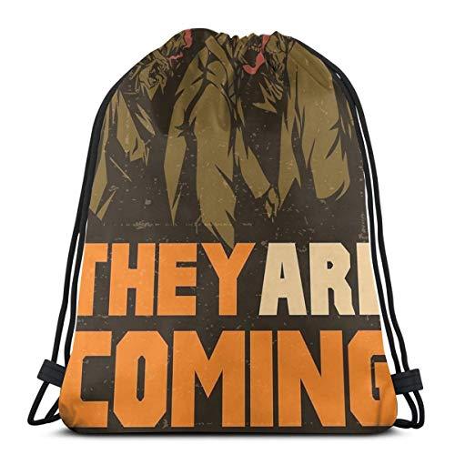 Ze komen eraan! Trekkoord Rugzak Tas Trekkoord Tas Sling Bag Sporttas, Geschikt voor School Gym Trip