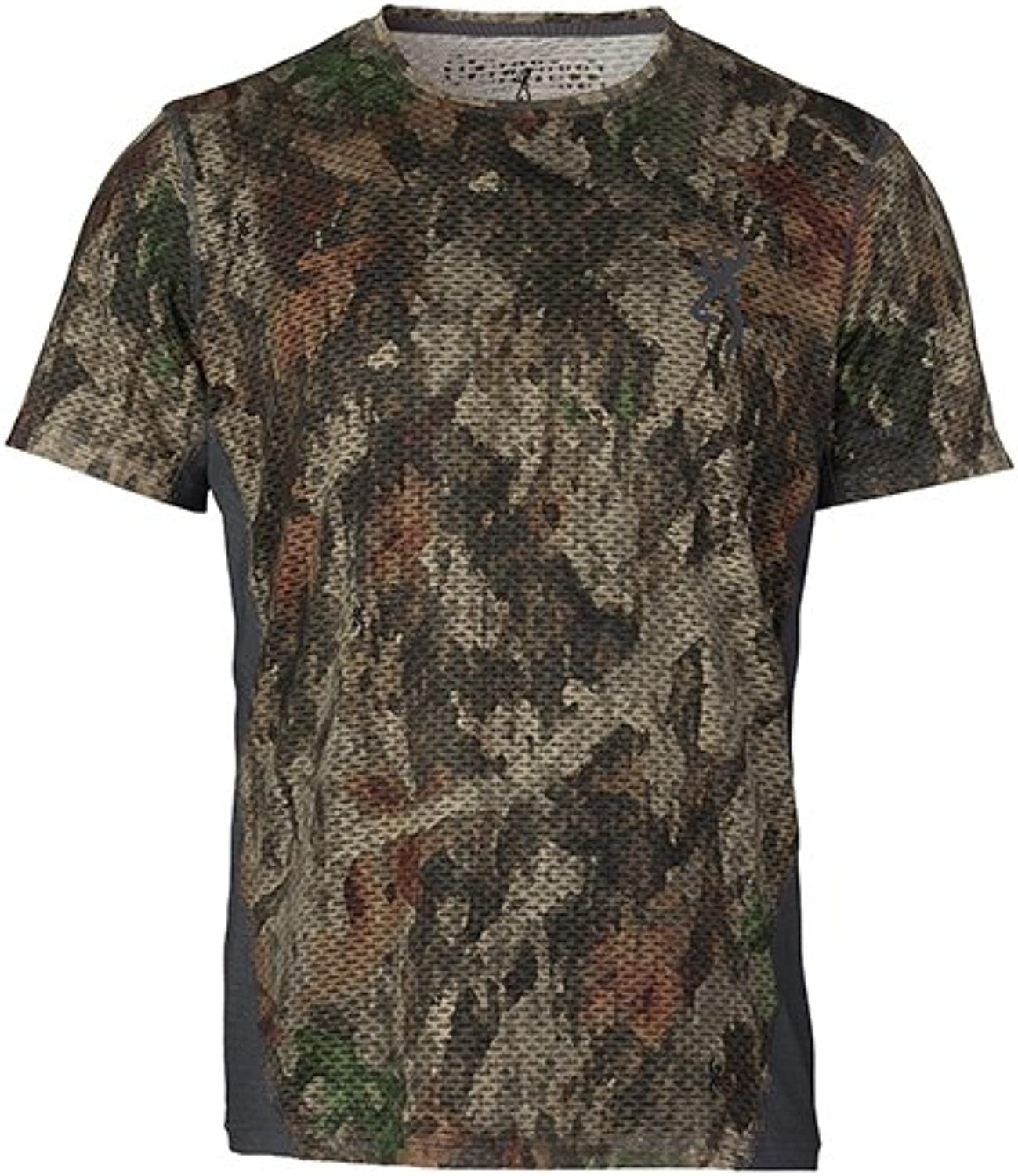 Browning Unisex-Adult Browning, Hell's Canyon Speed Plexus-FM Short Sleeve Mesh Shirt, ATACS Tree Dirt Extreme, X-Large 3018593204, ATACS-TD