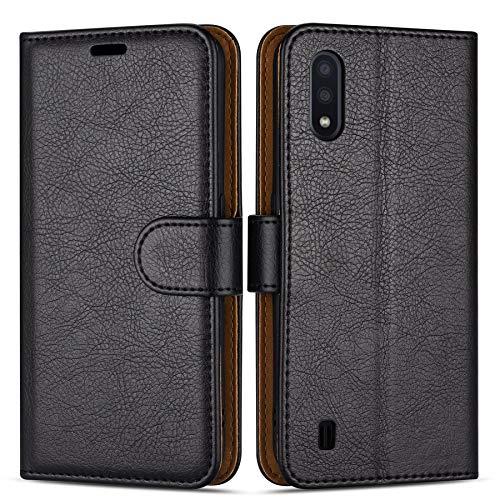 Case Collection Funda de Cuero para Samsung Galaxy A01 (5,7') Estilo Cartera con Tapa abatible y Ranuras para Dinero y Tarjeta de crédito para Samsung Galaxy A01 Funda