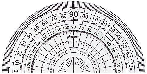 レイメイ藤井 分度器 見やすい白黒 分度器 白 9cm APJ151W