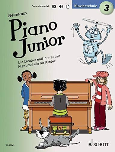 Piano Junior: Klavierschule 3: Die kreative und interaktive Klavierschule für Kinder. Band 3. Klavier. Ausgabe mit verschiedenen Online-Materialien. (Piano Junior - deutsche Ausgabe)