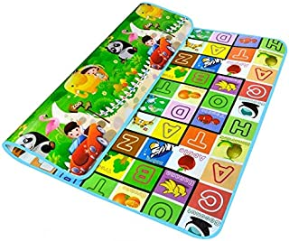 Educational Double Sided Baby Crawling Play Mat Letters Printed 1.8X1.5 m