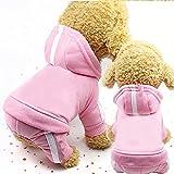 Mascota Sudaderas 2 Perros, Ropa, Jerseys de Lana, suéteres Calientes, 4-Pierna de la Chaqueta del algodón de la Chaqueta de la Sudadera, tamaño: XS (Azul) (Color : Pink)
