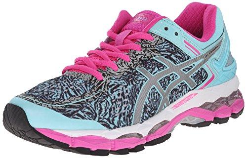 ASICS Women's Gel Kayano 22 Lite Show Running Shoe, Aqua Splash/Silver/Pink Glow, 12.5 M US