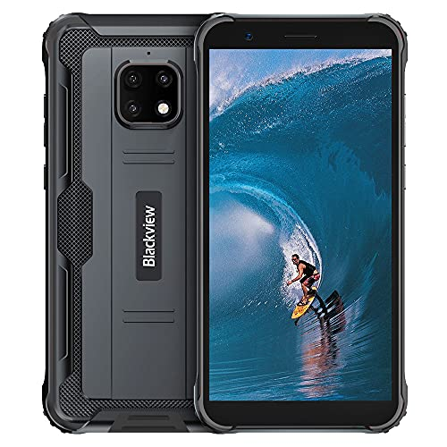 Rugged Smartphone, Blackview BV4900 Pro Shockproof Cellphone with 5.7 Inch, 4GB RAM + 64GB ROM Octa-core, 5580mAh Battery, 13MP + 5MP, Android 10 4G Cell Phones, NFC/GPS/OTG Dual SIM Phone-Black