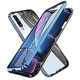 rayoo cover samsung galaxy a50 adsorbimento magnetico custodia,ultra sottile 360° protezione full body trasparente vetro temperato alluminio metal bumper protettiva copertura case per samsung a 50