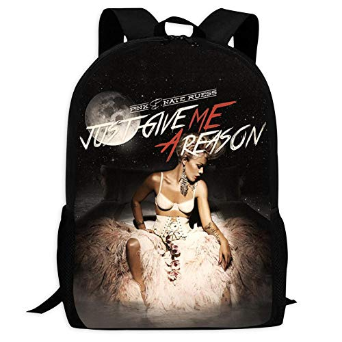 P nk Just Give Me A Reason Unisex Backpack Shoulder Bags Large Capacity Knapsack Boys Girls Laptop Outdoor Men Women Arizona
