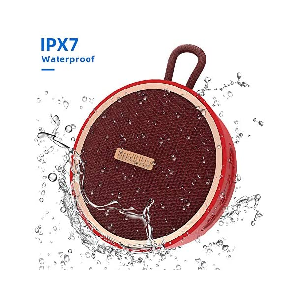 Waterproof Bluetooth Speaker Shower Speaker IPX 7 Bathroom Speaker V5.0 True Wireless Speakers Portable Shockproof Boombox Speaker 800mAh Powerful Audio Driver Enhanced Bass 10m Wireless 3