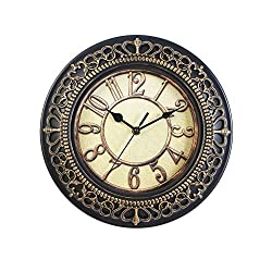 Vosarea Black Wall Clock, Silent Non Ticking - 10 Inch Quality Quartz Battery Operated Round Easy to Read Home/Office/School Clock
