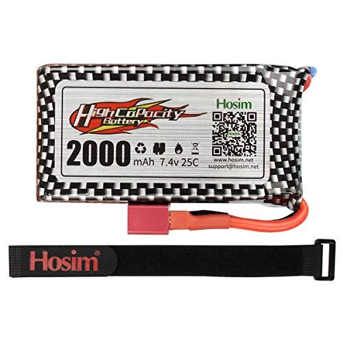 Hosim 9125 Batteria 2000mAh Batteria Lipo 7.4v Batteria Ricaricabile 25-DJ02 Scala 1:10 9125 all TerraiSpeed Monster Truck Accessori Accessori RC Auto Truggy High