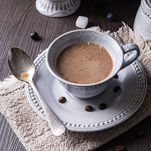 TAI KFBGYP Kaffeetassen Blau-Spirale Tattoo Glaze Bequeme Cup Elegante Relief-Effekt Unregelmäßige Gerätetyp Keramik-Becher Tassen Tee Künstlerische Sensations Porzellan (Color : Gray, Size : 180ml)