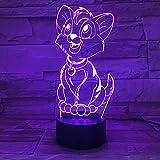 Sproud White Crack Touch 7 Farben Pet Puppy 3D Illusion Licht/Bedside visuelle Schreibtischlampe/Led Nachtlicht/Baby Schlaf Licht/Schlafzimmer Dekoration Kind Geburtstag Weihnachtsgeschenk