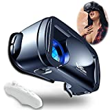 VR Brille Handy Virtual Reality mit Fernbedienung, 3D VR-Brille Erleben Sie Spiele und 360 Grad...