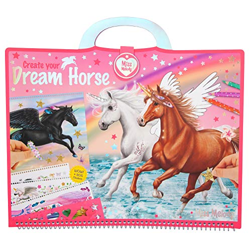 Depesche 10898 kleurboek Miss Melody, Create Your Dream Horse, ca. 30,5 x 33 x 1,5 cm, bont