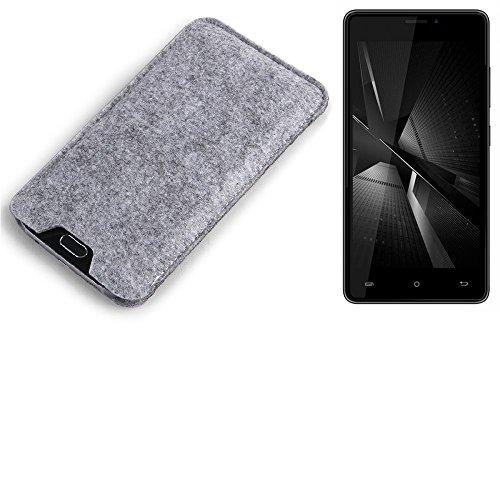 K-S-Trade® Filz Schutz Hülle Für Cubot H3 (2018) Schutzhülle Filztasche Filz Tasche Hülle Sleeve Handyhülle Filzhülle Grau