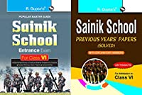 Sainik School Entrance Exam Guide for Class VI + Sainik School: Previous Years Papers with Explanatory Answers (Solved for Class VI) (Set of 2 Books)