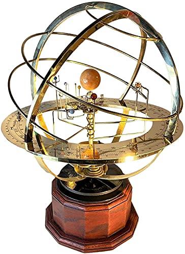 Grand Orrery Model of The Solar System - Modelo de Sistema Solar de Metal, Manualidades de Planetas mecánicas Retro, Adornos espaciales para Escritorio de Oficina, decoración del hogar, Regalo