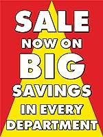Sale Now On Big Savings リテールディスプレイサイン 幅18インチ x 高さ24インチ 5 Pack