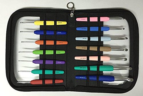 KnitPro WAVES Häkelnadel-Set BIG, 14 Alu-Häkelnadeln 2,0 - 12,0 mm, Art. 30925