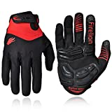 Firelion Long Finger Outdoor MTB Downhill Off Road Bicycle Gloves (Red, Medium)