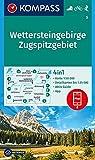 KOMPASS Wanderkarte Wettersteingebirge, Zugspitzgebiet: 4in1 Wanderkarte 1:50000 mit Aktiv Guide und Detailkarten inklusive Karte zur offline ... Skitouren. (KOMPASS-Wanderkarten, Band 5)