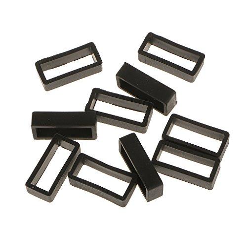 10 X Gummi Uhrenarmband Schlaufe Schnalle Halter für Uhrenarmbänder - 20mm Schmal