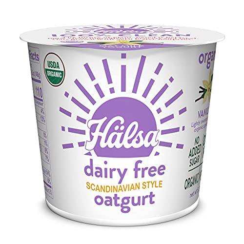 Hälsa 100% Clean Dairy-Free Oatmilk Yogurt   Vanilla Prebiotics & Probiotics, Whole Grain Oats,...