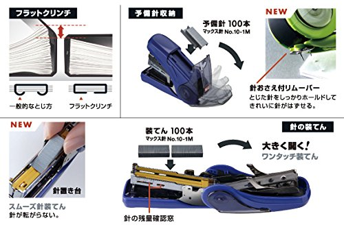 "Max ""SAKURI FLAT"" Stapler (Flat Clinch) [White] [Japan Import] Photo #8"