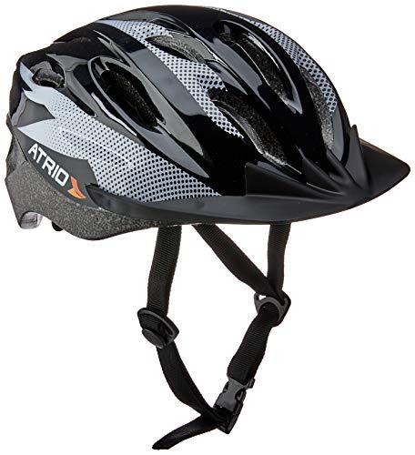 Capacete para Ciclismo MTB 2.0 Tam. G Viseira Removível e 19 Entradas de Ventilação Preto/Branco - BI159 Atrio Adultos