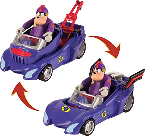 Micky Maus Flinke Flitzer 182837MM2 Disney Junior Micky Roadster Racers transformable Toro, violett