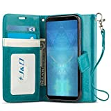 J&D Case Compatible for Galaxy A9 2018 Case, [Wallet Stand]