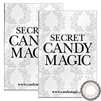 Secret Candymagic monthly シークレット キャンディー マジック マンスリー 【カラー】NO.15グレー 【PWR】0.00(度なし) 2枚入 2箱