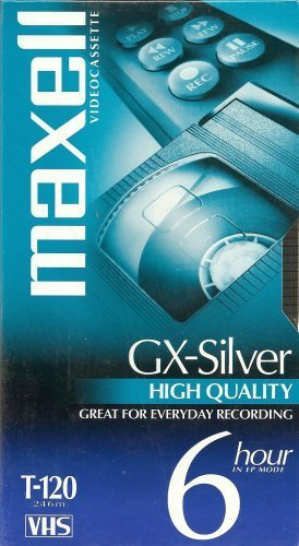 Find Bargain Maxell 4 Pack GX-Silver T-120 VHS