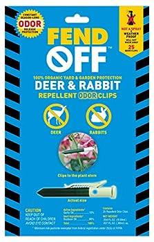 Fend Off Deer/Rabbit Organic Odor Clips 25pk