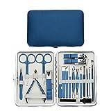 Manicura y Pedicura Conjuntos Manicura Azul Set Nuevo Manicur Herramientas Profesional Clippers Nail Kit Pedicura Acero Inoxidable Archivo Tijeras