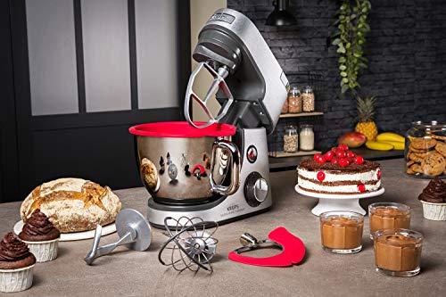 Krups Premium Küchenmaschine 17 teilig, 4,6L Edelstahlschüssel, Silikonschüssel, 4 Rührwerkzeuge Edelstahl, spülmaschinenfest, 1100W, Schnitzelwerk, Fleischwolf, Gratis Rezepte und 12er Cupcake Form - 13
