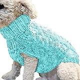 OGGID Ropa Disfraz Inverno para Perro Gato Pequeños Medianos, Chaleco Suéter Jersey Caliente para Teddy Yorkshire Chihuahua Suave Calido con Raya Sudaderas Vestido Camiseta Camisa 4 Tallas