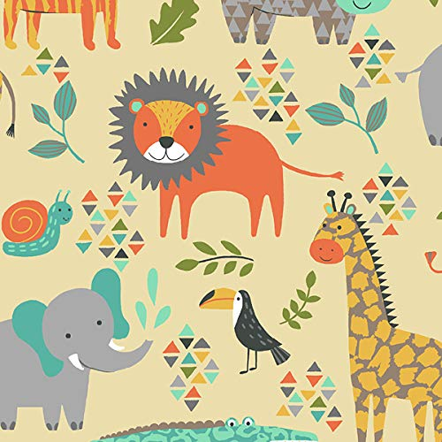 Animal Kingdom Anti-Pill Fleece Fabric by The Yard