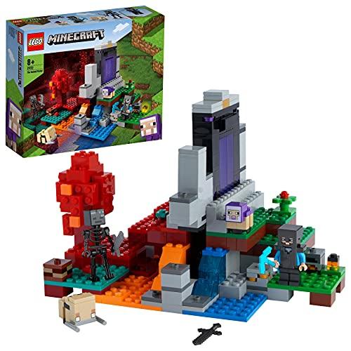 LEGO 21172 Minecraft El Portal en Ruinas Juguete de Construcción para Niños de 8 Años y Más con Mini Figuras