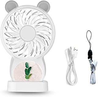 Color : Blue GzPuluz Mini USB Fan Hand-Held Mini USB Round Shaped Electric Bladeless Air-Condition Pink