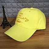 zlhcich Gezeiten Männer und Frauen Wilde Baseballmütze Stickerei Buchstaben Frühling und Sommer Mütze Sonnencreme Sonnenschirm Hut