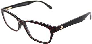 ae18cf170fe Kate Spade KS Brylie 7RM Black Red Heart Plastic Rectangle Eyeglasses 50mm