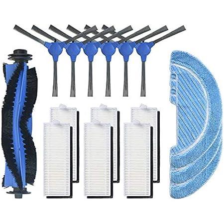 SovelyBoFan 10 piezas de tela trapeador insertos para Conga Serie 1090 Robot Partes de aspirador Accesorios Telas Mop Insert Kit