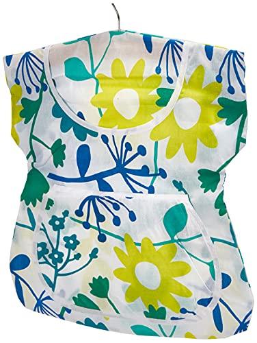 Wenko Bolsa para Pinzas de Ropa sin Volantes, Algodón, Multicolor, 3x33x45 cm