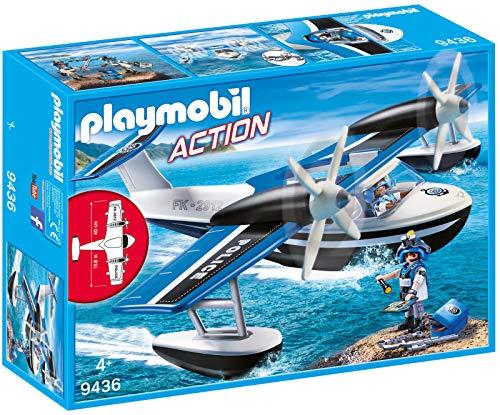 Playmobil- Action Giocattolo Idrovolante della Polizia, Multicolore, 9436