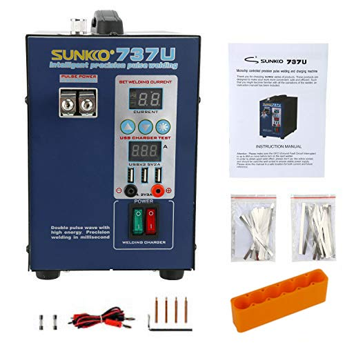 SUNKKO 737U Precision Pulse Battery 2800W Testing Charge Spot Welder 110V