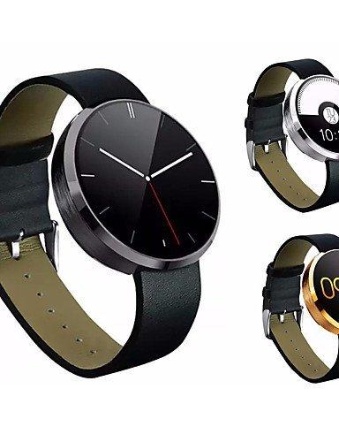DM360portátiles reloj inteligente, bluetooth4.0/manos libres llamadas/control de la cámara/monitor de ritmo cardíaco/actividad tracker